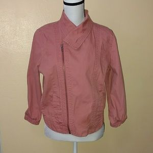 Medium coral colored denim jean jacket by Hurley